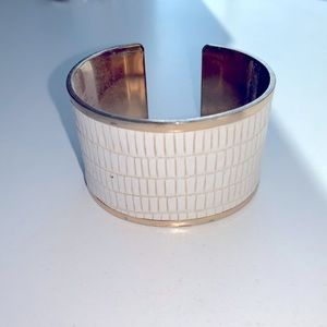 Gold and white cuff